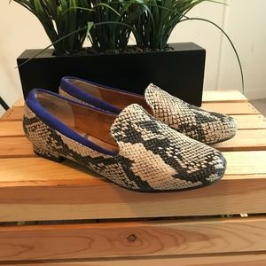 Seychelles   8.5   Leather Snake Print Loafers